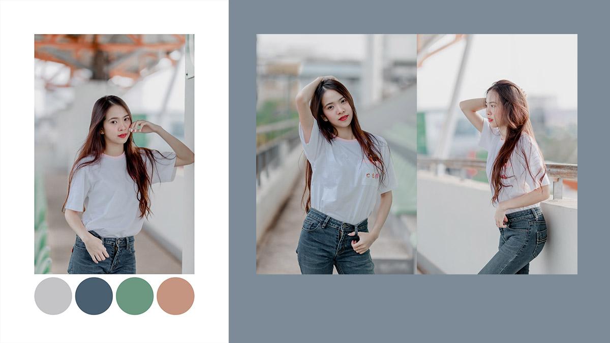 โทน HDR Dark Color แอพ Lightroom ภาพสว่าง สีทึบ