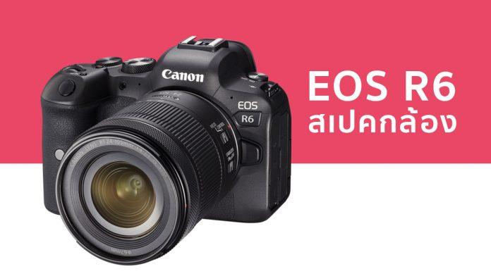 Canon eos r6 spec