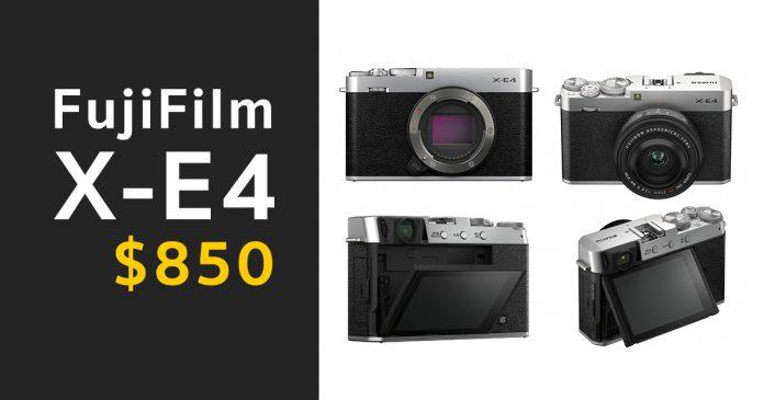 Fujifilm X-E4 ราคาเปิดตัว