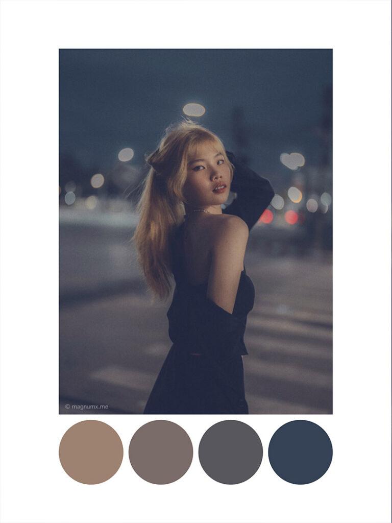แต่งรูป Lightroom โทนกลางคืนเท่ๆ Night Fade Blue